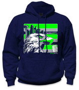 SafetyShirtz - Seattle Safety Hoodie - Green/Gray/Navy
