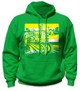 SafetyShirtz - Tractor Hoodie - Yellow/Green