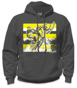 Snowmobile Hoodie- Yellow/Grey
