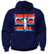 SafetyShirtz - Buck Skull Safety Hoodie - Red/Blue/Navy