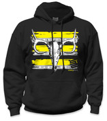 SafetyShirtz - Buck Skull Safety Hoodie - Yellow/Gray/Black