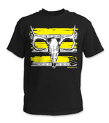 Buck Skull T-Shirt- Yellow/ Black