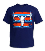 Buck Skull T-Shirt- Red/ Navy