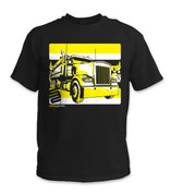 SafetyShirtz - Dump Truck Safety Shirt - Yellow/Black