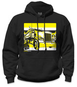 SafetyShirtz - Dump Truck Safety Hoodie - Yellow/Black