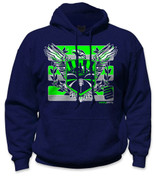 SafetyShirtz - Sodo Rising Safety Hoodie - Green/Gray/Navy