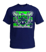 Sodo Rising T-Shirt- Sfty Grn/ Navy