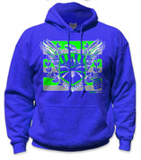 SafetyShirtz - Sodo Rising Safety Hoodie - Green/Gray/Royal