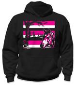 Youth Horse Hoodie - Pink/Black