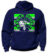 SafetyShirtz - NEVER DOUBT Safety Hoodie- Green/Gray/Navy