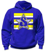 SafetyShirtz - Youth Classic Safety Hoodie - Yellow/Royal