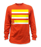 Basic Long Sleeve T-Shirt- Yellow/ Orange