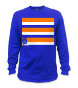 SafetyShirtz - Basic Long Sleeve Safety Shirt - Orange/Blue
