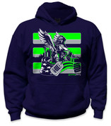 SafetyShirtz - 12 Army Safety Hoodie - Green/Gray/Navy