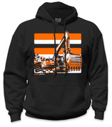 SafetyShirtz - NEW Excavator Safety Hoodie - Orange/Black