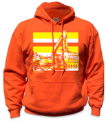 NEW Excavator Hoodie- Yellow/Orange
