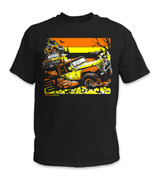 SafetyShirtz - Off Road Safety Shirt - Orange/Yellow/Black