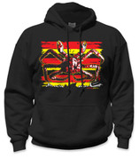 SafetyShirtz - King Crab Safety Hoodie - Red/Yellow/Black