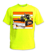 SafetyShirtz - Bulldozer Safety Shirt - Yellow/Orange