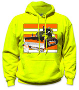 SafetyShirtz - Bulldozer Safety Hoodie - Yellow/Orange