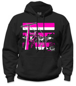 SafetyShirtz - Lineman Safety Hoodie - Pink/Black