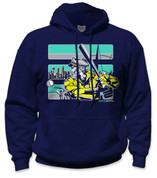 SafetyShirtz - The Skipper Safety Hoodie - Turq/Navy