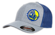 SafetyShirtz - The Skipper Flexfit Trucker Hat - Gray/Royal