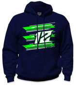 SafetyShirtz - 12 Safety Hoodie - Green/Gray/Navy