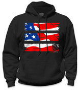 SafetyShirtz - Old Glory Safety Hoodie - Red/White/Blue/Black