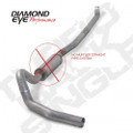 Diamond Eye 4in Aluminized Turbo Back Exhaust w/o Muffler (K4114A-RP)