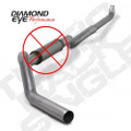 Diamond Eye 5in Aluminized Turbo Back Exhaust w/o Muffler (K5118A-RP)