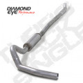 Diamond Eye 4in Aluminized Turbo Back  w/Muffler, Quiet Tone (K4113A)