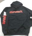 DuramaxGear - Duramax Front and Sleeve Hoodie - Black and Red (H14001-BLKR)