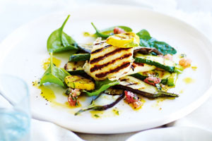 cypriot haloumi warm salad