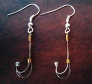 Survival fish hook earrings.