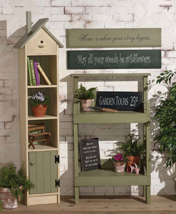 Birdhouse Decor Hutch, Potting Table