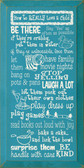 Shown in Old Turquoise with Cream lettering