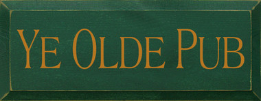 Shown in Old Green with Gold lettering