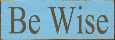Shown in Old Light Blue with Brown lettering