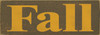 Shown in Old Brown with Mustard lettering
