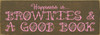 Shown in Old Brown with Pink lettering