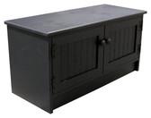 Shown in Solid Black with Beadboard doors