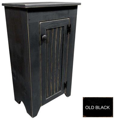 Shown in Old Black with a beadboard door