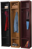 Three Lockers shown in Old Black, Old Gold, and Old Burgundy