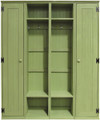 Two Lockers shown in Old Celery along with two Lockers Cabinets (each sold separately)