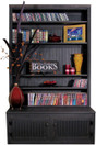 """4 foot wide unit with 12"""" deep shelves - shown with off-center fixed shelf plus 1 extra shelf"""