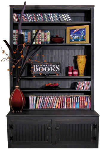 "4 foot wide unit with 12"" deep shelves - shown with off-center fixed shelf plus 1 extra shelf"