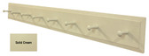 Long Wall Coat Rack - Shown in Solid Cream