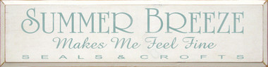 Shown in Old Cottage White with Sea Blue lettering