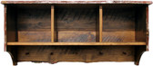 Rustic Shelf with Storage Cubbies - 4' long